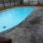 Pool deck before